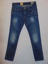 G-Star Raw 3301 Low Tapered Medium Aged W32 L32  Mens Blue Stack Denim Jeans