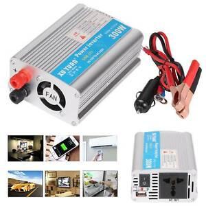 300W  Car Van Converter Power Inverter DC 12V to AC 220V USB  New Sine Wave