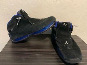 Nike Air Jordan Retro OG 18 Black Sport Royal Blue Basketball Shoes Size 10.5