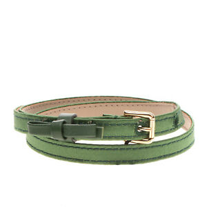 RRP €195 DOLCE & GABBANA Silk & Leather Belt Size L / 69 Skinny Made in Italy