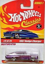 HOT WHEELS CLASSICS SERIES 1 #5/25 1967 DODGE CHARGER PURPLE