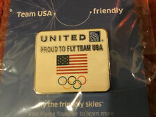 New United Airlines Olympic Rings Winter Games Collector Pin 2014 Sochi Russia