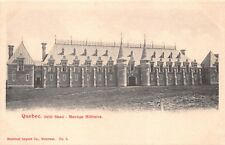 QUEBEC CANADA MANÈGE MILITAIRE~DRILL SHED~PRIVATE PHOTO POST CARD 1890s-1900s