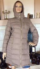 MICHAEL Michael Kors Women Truffle Removable Hood Down Coat NWT Size S