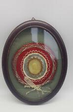Reliquie Rom Agnus Dei - Klosterarbeit um 1880 - Medaillon Mutter Gottes