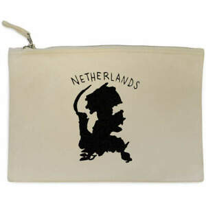 'Netherlands Country' Canvas Clutch Bag / Accessory Case (CL00009207)