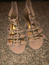 Your Feet Look Gorgeous Beige Sandals 9 Gladiator Style