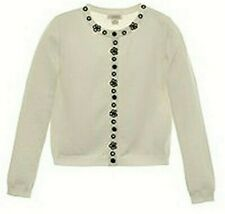 K.C. PARKER White Cardigan Sweater - NWT Girls 14/16