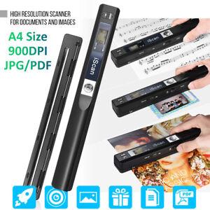 Drahtloser Handscanner A4 JPG / PDF LCD-Anzeige für Dokument Quittungen Y9I6