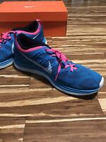 Nike Flyknit One+ Mens Size 10.5 US Turquoise Blue Pink Running Shoes 554887-414