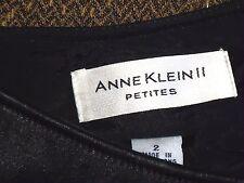 ANNE KLEIN II ShortWoolMixLeatherTrim Size2P EUC
