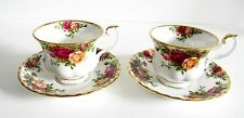 Royal Albert pair of cups and saucers in bone china - Old Country Rose - England