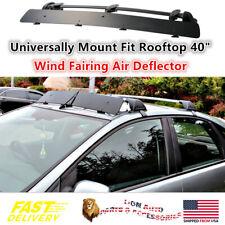 "Universally Mount Fit Rooftop Rack 40"" CrossBar Wind Fairing Air Deflector Kit"