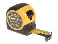 STANLEY 5m FatMax Tape Measure BladeArmor  METRIC IMPERIAL Fat max