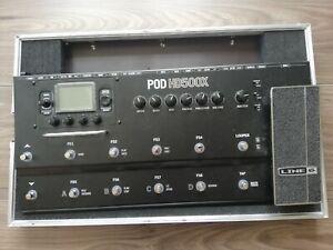 Line 6 POD HD500x mit Transportbox: Thon Case , Multieffektgerät, wie neu