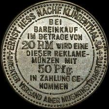 HEZINGER-RABATTMARKE: 50 PFG. MUSIKINSTRUMENTE ERNST HESS KLINGENTHAL / SACHSEN.