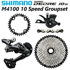 SHIMANO Deore M4100 1x10 Speed MTB Groupset 42T/46T 10S group KMC X10