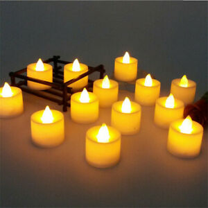 1-48Pcs LED Fake Candles Flickering Flameless Tea Light for Home Party Valentine