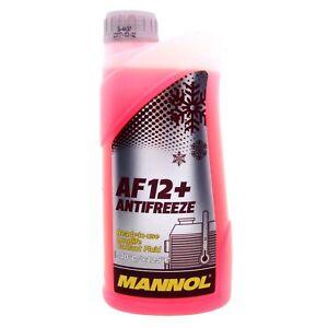 1 Liter MANNOL Antifreeze AF12+ Frostschutz Fertiggemisch rot -40°C G12+