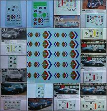 DECALS KIT 1/43 12 decals ALPINE RENAULT A210/M63/M64 24H DU MANS 24 ORE LE MANS