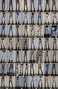 Jeans Print Leggings-28 Modelle-Neu Sexy Jeggings Treggings Leggins Gr. 34-38