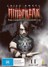 CRISS ANGEL MINDFREAK - THE COMPLETE SEASONS 1-4 (11 DVD SET) NEW!!! SEALED!!!