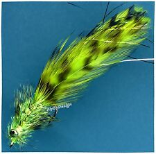 Dubiel's Chartreuse Red-Ducer Chain Bead Eye Fly Fishing Flies ( One Fly )