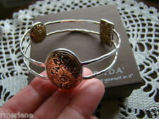 "Silpada Sterling Silver, Bronze ""Romance Novel""  Bangle Bracelet B2415 New! $229"