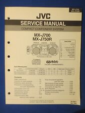 JVC MX-J700 MX-J750R Service Manual Factory Original The Real Thing