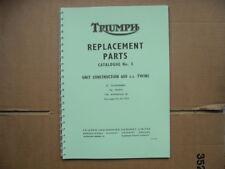 Triumph T120, TR6,6 T Livre de pièces pour modèles 1965