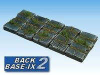 50mm x 25mm Resin Bases (5) Square Paved Warhammer