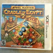 Jewel Master: Cradle of Egypt 2 3D (Nintendo 3DS, 2013) USED SEALED