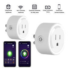 Smart Plug WiFi Mini Socket Outlet Wireless Remote Control For Amazon Alexa Echo