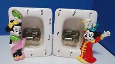 Vintage Schmid Walt Disney Mickey Mouse & Minnie Picture Frame w/ Music Box
