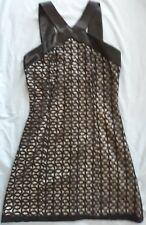 RARE Kate Moss Topshop Black Lace Halter Neck Dress Size 8
