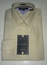 Tommy Hilfiger Men's Dress Shirt Long Sleeve Regular Fit Ivory  NWT MSRP 65.00