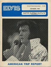 Elvis Presley Fan Club Magazine October 1976