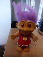 Russ Troll Muñeca Vintage-Púrpura Hair-aspecto inusual Moldeado Paños