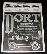 1917 OLD MAGAZINE PRINT AD, DORT, THE ENDURING CAR OF THE ENDURING CLASS, ART!
