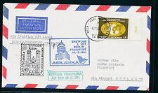 97108) AIRLANKA FF Berlin - Frankfurt 20.12.91, Brief ab UNO Wien SPA Köln