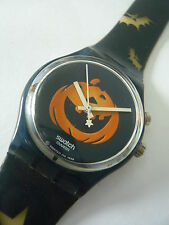 GN906 Swatch 1998 Happy Nightmare Loomi Halloween Pumpkin Swiss Made Authentic