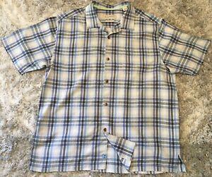Tommy Bahama Mens XL Short Sleeve Shirt 100% Silk
