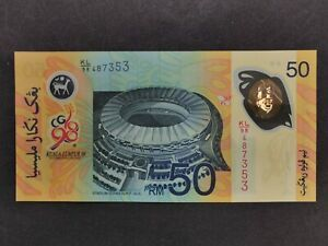 1998 Malaysia Sukom RM 50 with folder # 487353, few other no. also available UNC