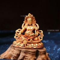"""Yellow Zambala Mammon  Tsanbala Statue Tibetan Buddha Prayer Nepal Figure 2.7"""""""