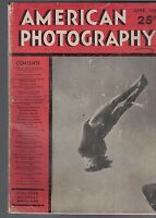 AMERICAN PHOTOGRAPHY Magazine  June 1938 Diving Cover