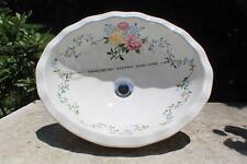 Porcher Vintage 70s Hand Painted Sink Custom Vanity Top Oval Bathroom New