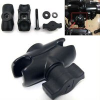 "Motorcycle Composite Standard Aluminum Double Socket Arm for 1"" Ball Bases Black"