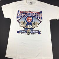 Vintage 1998 MLB Spring Training Cactus League Chicago Cubs T-Shirt Size Large