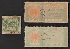 3 JUNAGADH INDIAN STATE  Stamps ALL DIFFERENT  (LOT 3) (C78)