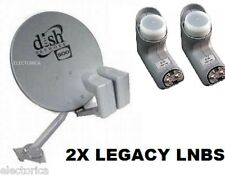 DISH NETWORK DISH500 LEGACY DUAL KIT & 2 Leg Single LNB Satellite 500 110 119